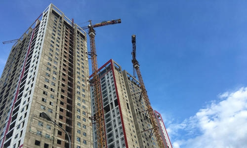 building under construction in Vietnam