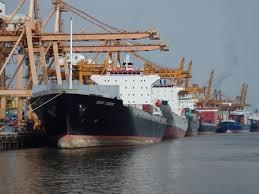 Cargo ships at Bangkok Port