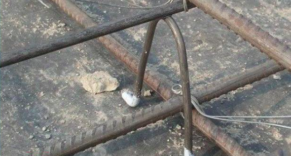 steel rebar in concrete construction